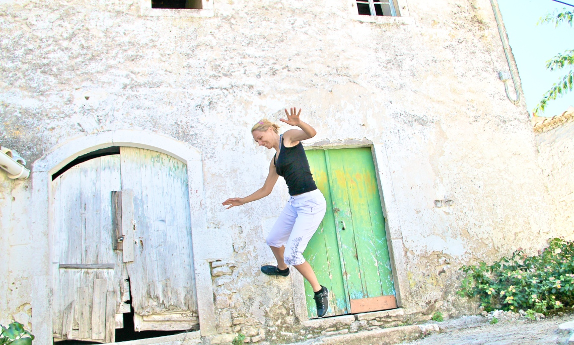A jump for joy in Greece!