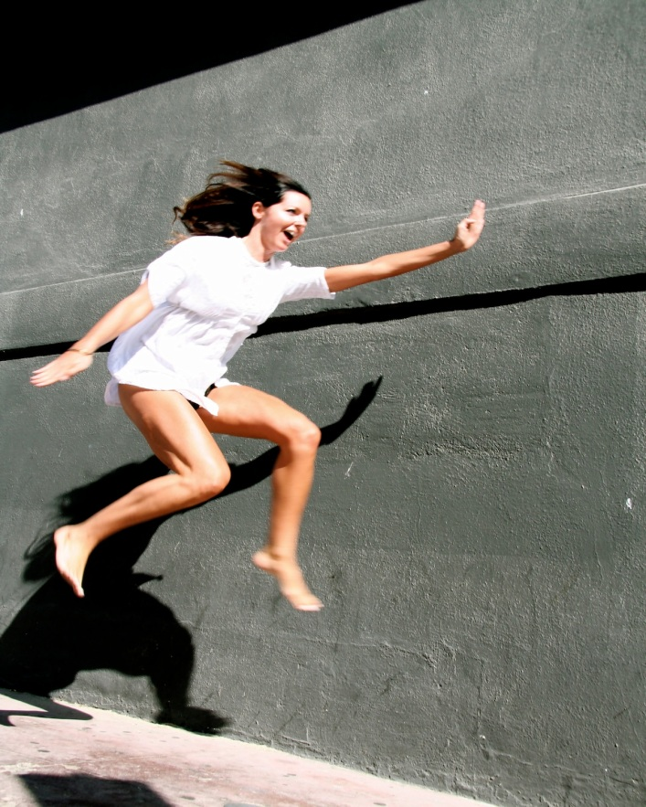 Jumping free in venice, CA.