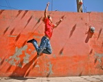 Creative and explosive jumping in Teotihuacan, Mexico.