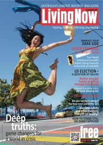 LivingNow Magazine Cover photo October issue 2012