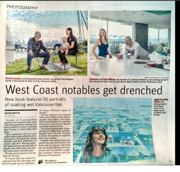 So It Is Vancouver Book in the Vancouver Sun