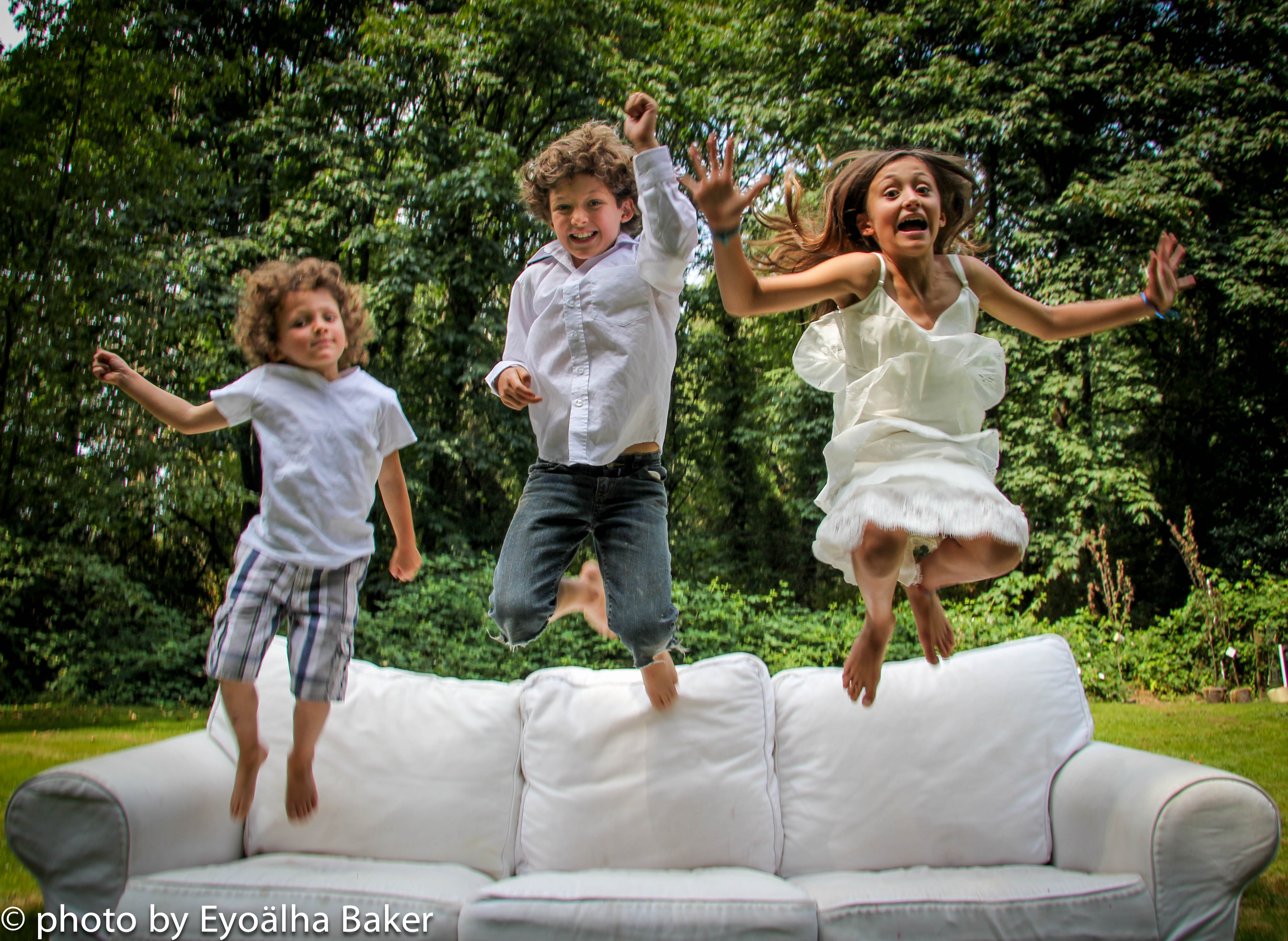 kids jumping for joy