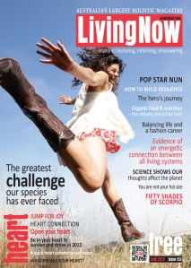 LivingNow Cover photo for September 2012. Photo by Eyoälha Baker www.jumpforjoyphotoproject.com