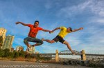Sunset fun jumping joy. Photo by Eyoälha Baker www.jumpforjoyphotoproject.com