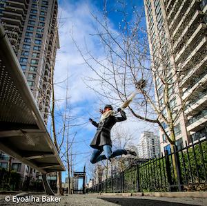 Self portrait jumping Photo by Eyoälha Baker http://www.jumpforjoyphotoproject.com