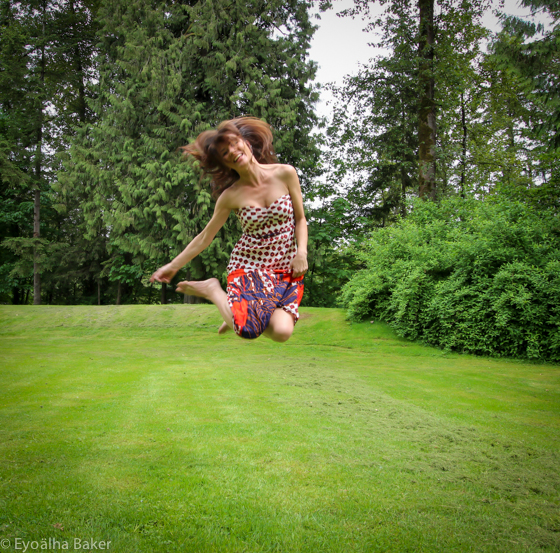 Selfie jumping photo by Eyoälha Baker http://www.jumpforjoyphotoproject.com