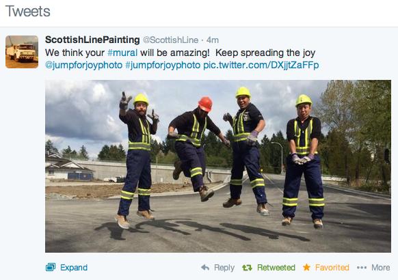 #jumpforjoyphoto Tweet of the day - ScottishLinePainting @ScottishLine