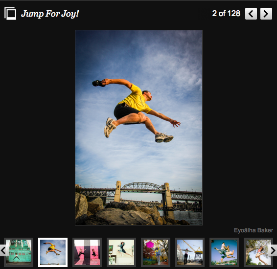 Slide show - Jump for Joy in Huffington Post BC