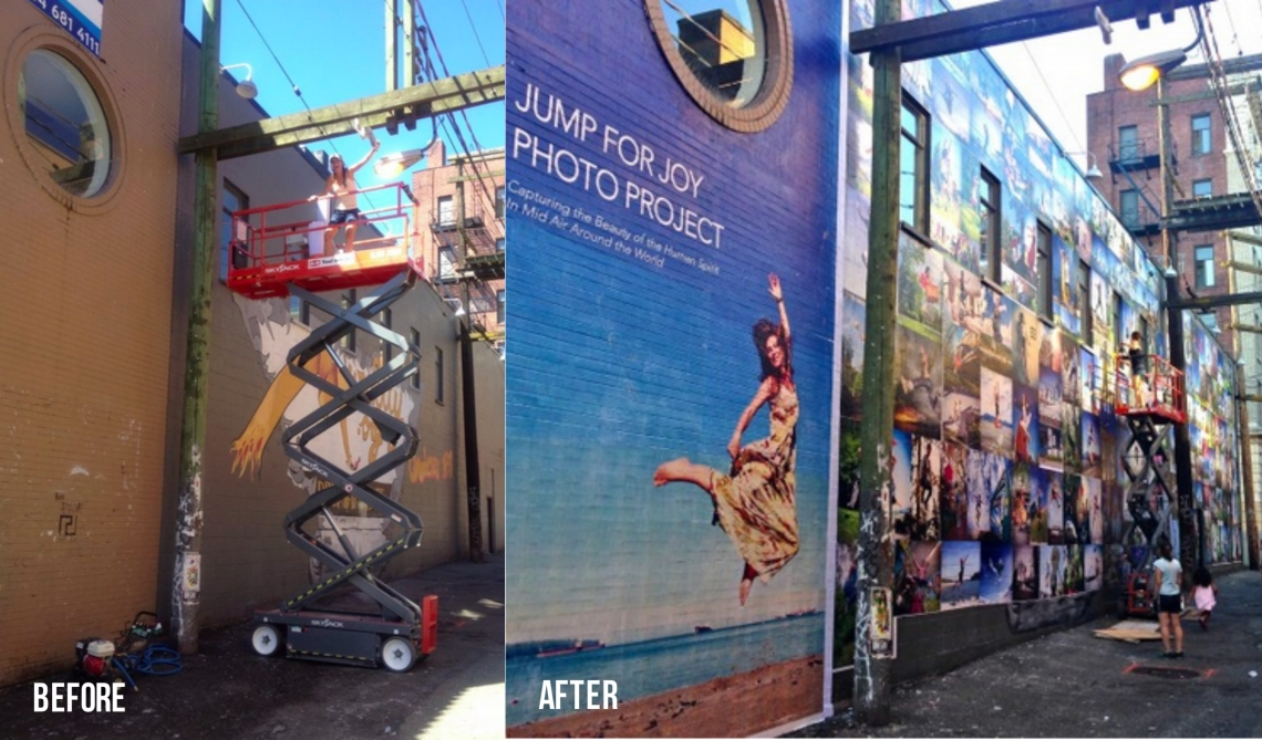 Before and After the Vancouver Jump for Joy Photo Mural by Eyoalha Baker