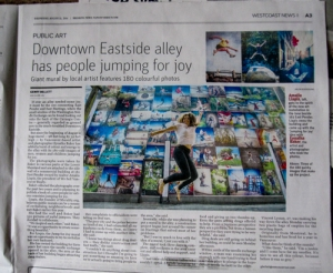 Downtown Eastside alley has people jumping for joy by Gerry Bellett The Vancouver Sun August 13