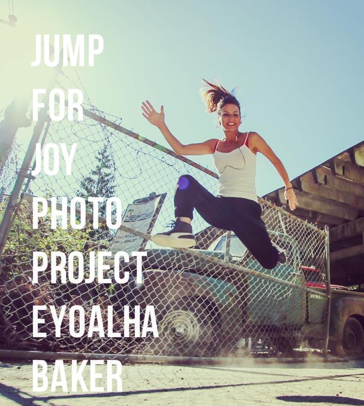 Selfie jumping photo by Eyoälha Baker http://www.jumpforjoyphotoproject.com