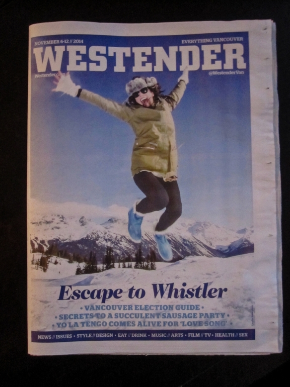 Cover page and index of the Westender Nov. 6-12 2014