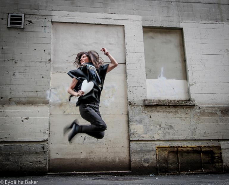 Selfie-jump Photo by Eyoälha Baker http://www.jumpforjoyphotoproject.com