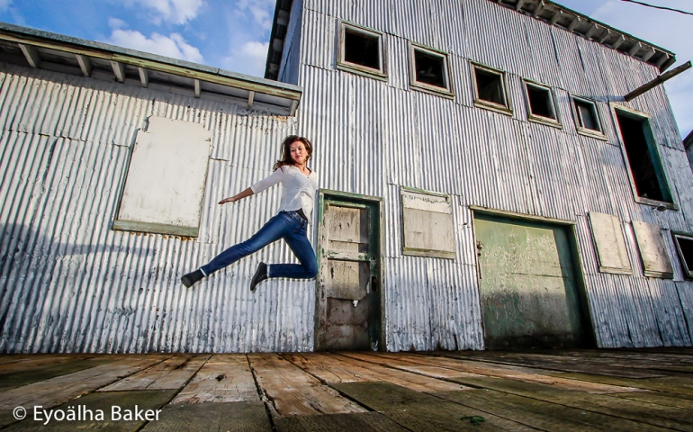 Selfie jumping photo by Eyoälha Baker www.jumpforjoyphotoproject.com