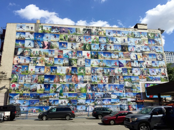 Wall of Joy Mural by Eyoalha Baker 2015 65ft high by 114ft wide.
