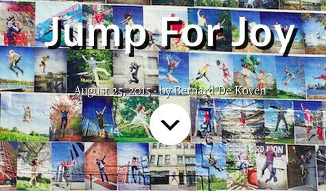 A Playful Path - A sweet note on Jumping for Joy by Bernie De Koven Photographs and mural by Eyoalha Baker