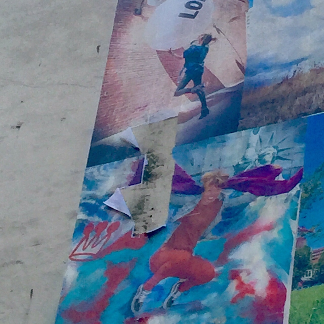 Photo damage to mural from the storm by Eyoälha Baker www.jumpforjoyphotoproject.com
