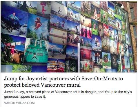 VanCityBuzz - Jump for Joy Photo Project / Eyoalha to serve @ Save On Meats to save for Wall of Joy repairs