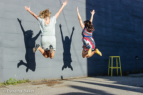 Annika Reinhardt + Crystal Henrickson Jump for Joy  Photo by Eyoälha Baker www.jumpforjoyphotoproject.com