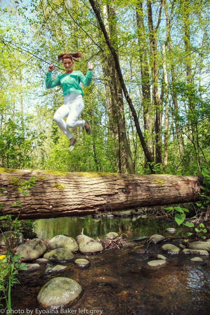 Brandi Liefso, CEO of EvlynIona Cosmetics. Jump for joy Photo by Eyoälha Baker www.jumpforjoyphotoproject.com