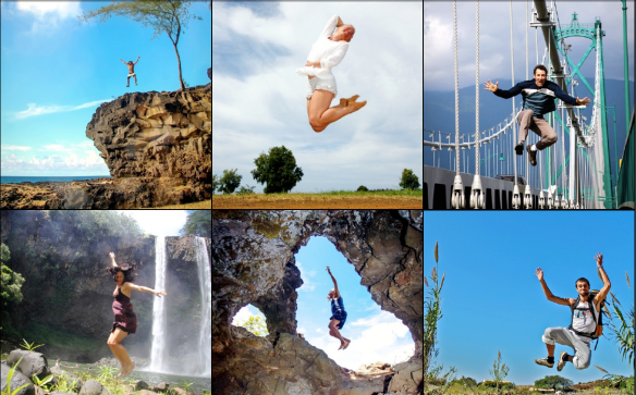 Jump for joy photo collage by Eyoalha Baker