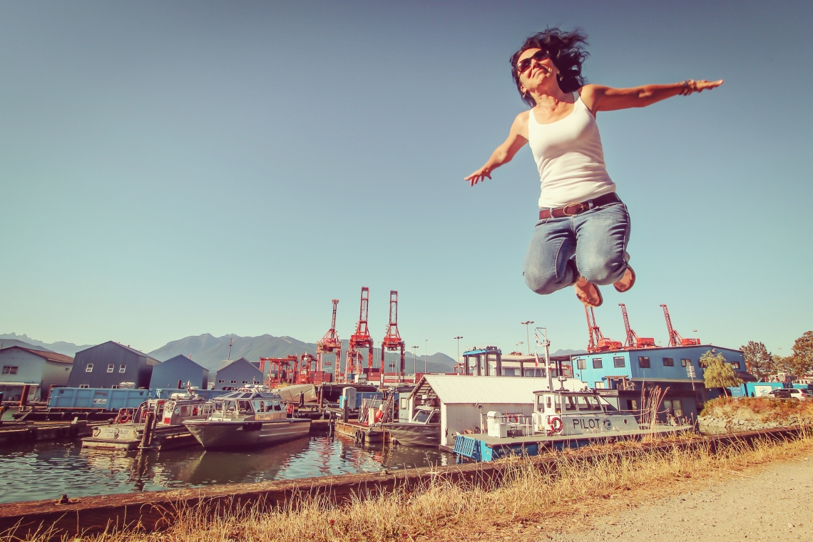 Photo of Janice Abbot, CEO of Atira Womens Resource Society by Eyoalha Baker for the Jump for Joy Photo project