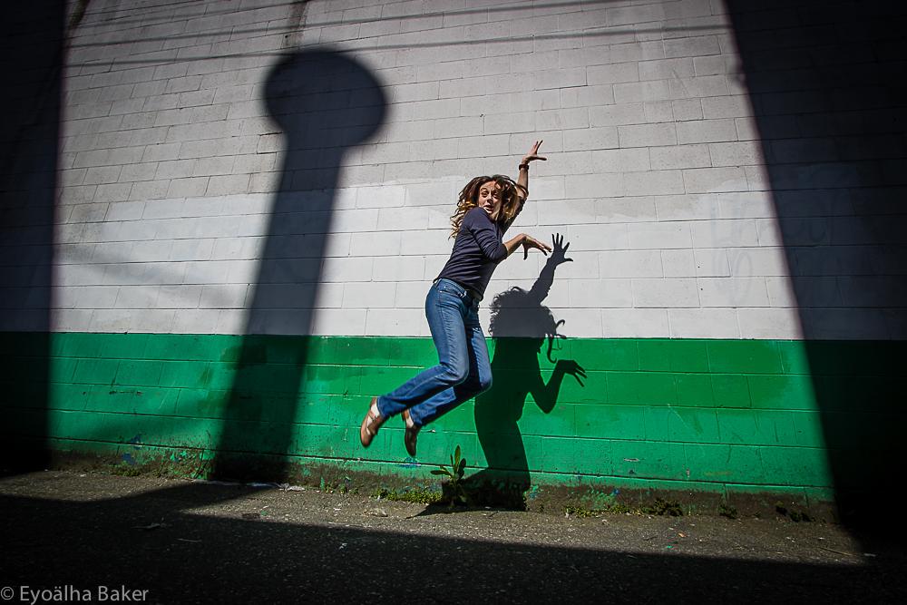 Barbara Tili jump for joy photo by Eyoalha Baker