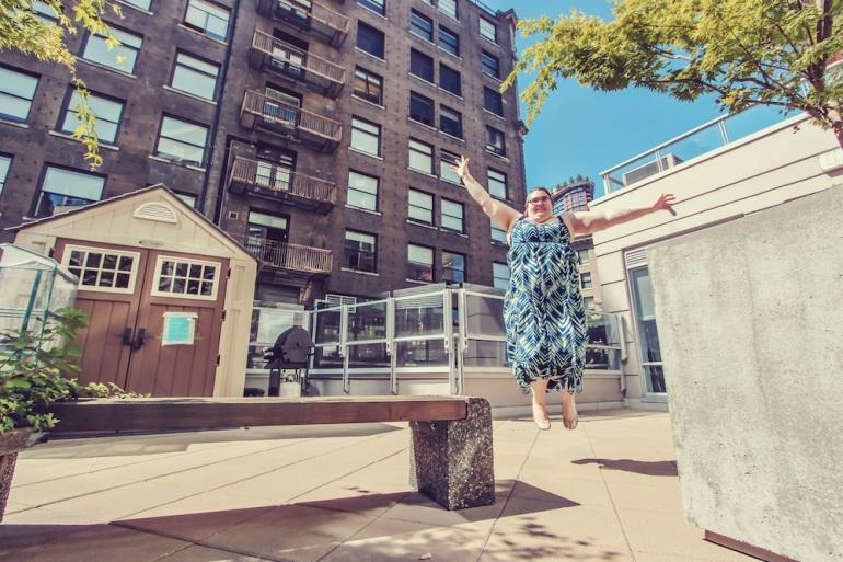 Jump for joy photo of Meg taylor by Eyoalha Baker