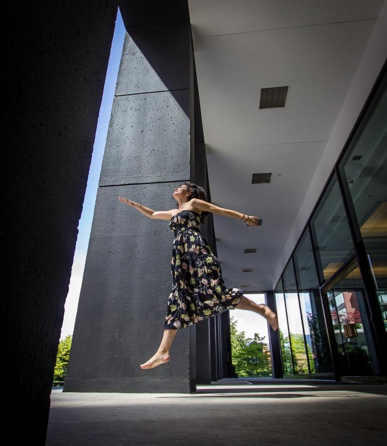 Selfie jump photo - Eyoalha Baker
