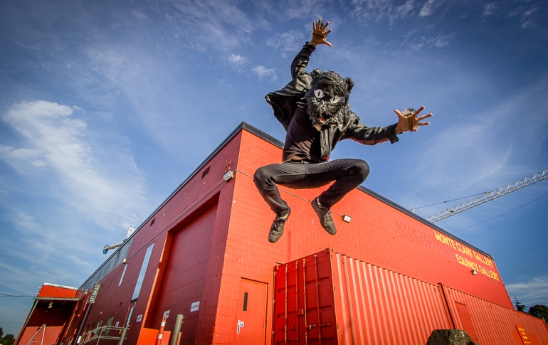 Edward Westerhuis aka Double Cat jump for joy photo by Eyoalha Baker