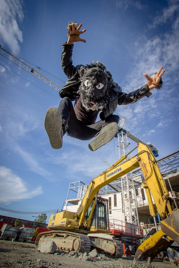 Photo of Edward Westerhius aka Double Cat jump for joy photo by Eyoalha Baker