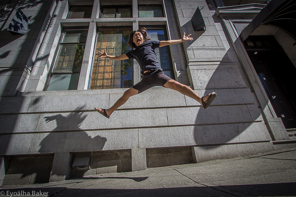 Photo of Sora Jumping for Joy by Eyoalha Baker