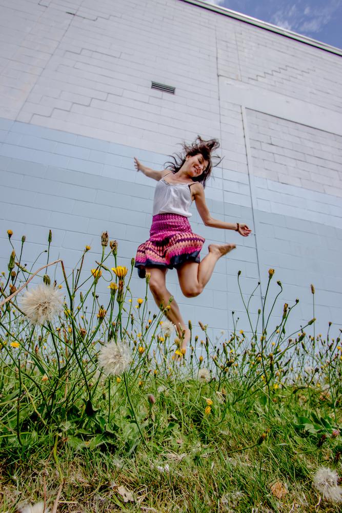 Self Portrait Jump for Joy Photo by Eyoalha Baker