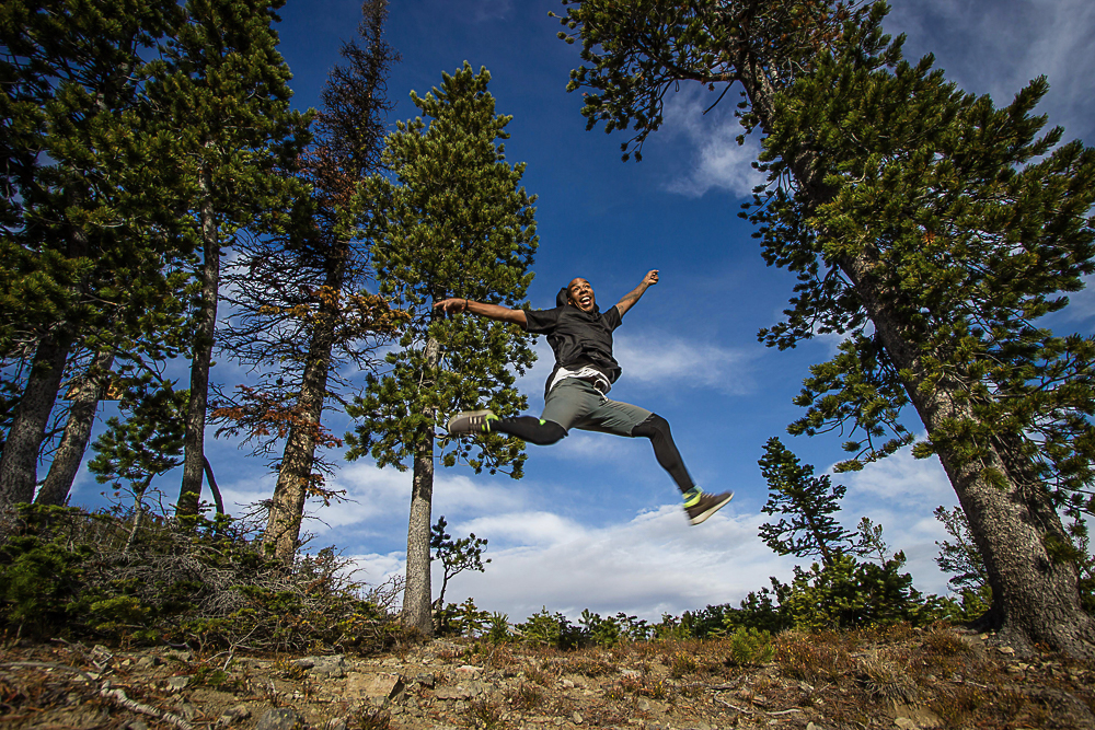 Photo of Chris Denson Jumping for Joy by Eyoalha Baker for the Jump for Joy Photo Project
